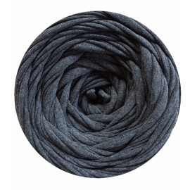 Knitting yarn Dark gray melange