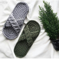 Set for knitting men's slippers up to size 46